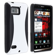 Insten® Hybrid TPU Rubber Case For Motorola Droid Bionic XT875, Black/White