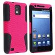Insten® Silicone Hybrid Case For Samsung i997 Infuse 4G, Black Skin/Hot Pink
