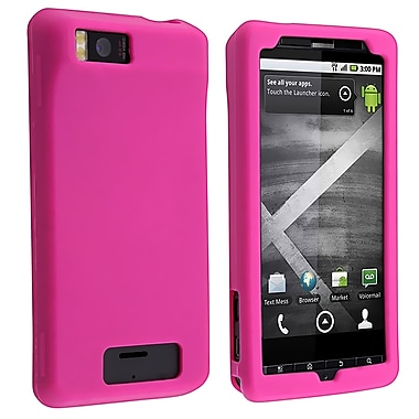 Insten® Silicone Skin Case For Motorola Droid Xtreme/Droid X, Hot Pink
