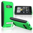 Insten® TPU Rubber Hybrid Case For HTC EVO 4G, Black/Green
