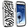 Insten® Silicone Hybrid Case For Samsung Galaxy S III i9300, Black/White Zebra