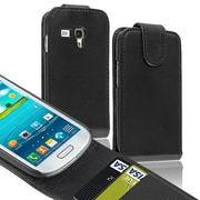Insten® Leather Flip Case With Card Holder For Samsung Galaxy S III Mini I8190, Black
