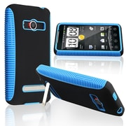 Insten® TPU Rubber Hybrid Case For HTC EVO 4G, Blue/Black