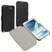 Insten® Leather Case With Magnetic Flap For Samsung Galaxy Note II N7100, Black