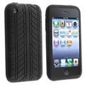 Insten® Silicon Skin Case For Apple iPhone 3G/3GS, Black Tire Tread