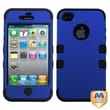 MYBAT™ TUFF Silicone Hybrid Phone Protector Case For iPhone 4/4S, Titanium Dark Blue/Black
