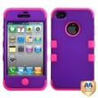MYBAT™ TUFF Silicone Hybrid Phone Protector Case For iPhone 4/4S, Grape/Electric Pink