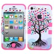 MYBAT™ TUFF Silicone Hybrid Phone Protector Case For iPhone 4/4S, Love Tree/Electric Pink
