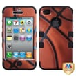 MYBAT™ TUFF Silicone Hybrid Phone Protector Case For iPhone 4/4S, Basketball Sports/Black