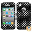 MYBAT™ TUFF Silicone Hybrid Phone Protector Case For iPhone 4/4S, Vintage Heart Dots/Black