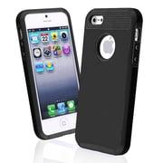 Insten® TPU Rubber Hybrid Case For Apple iPhone 5, Black/Black