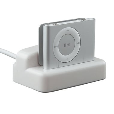 Insten DAPPSHUFCRA1 Multifunction Cradle for Apple iPod Shuffle 2nd Gen, White