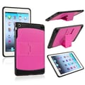 Insten® TPU Rubber Hybrid Case With Stand For Apple iPad Mini, Hot Pink/Black