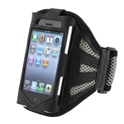 Insten® Deluxe Sportband For Apple iPhone 4/4S/3G/3GS/iPod Touch, Black/Silver