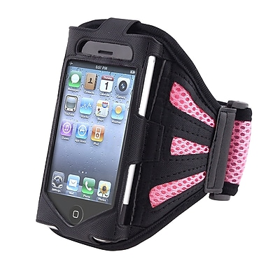 Insten® Deluxe Sportband For Apple iPhone 4/4S/3G/3GS/iPod Touch, Black/Light Pink