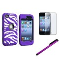 Insten® 1168992 3 Piece Case Bundle For Apple iPod Touch 4th Gen