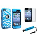 Insten® 1170965 3 Piece Case Bundle For Apple iPod Touch 4th Gen