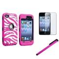 Insten® 1168991 3 Piece Case Bundle For Apple iPod Touch 4th Gen