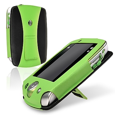 Insten® Leather Case For Leapfrog LeapPad 2, Green/ Black