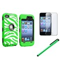 Insten® 1168995 3 Piece Case Bundle For Apple iPod Touch 4th Gen
