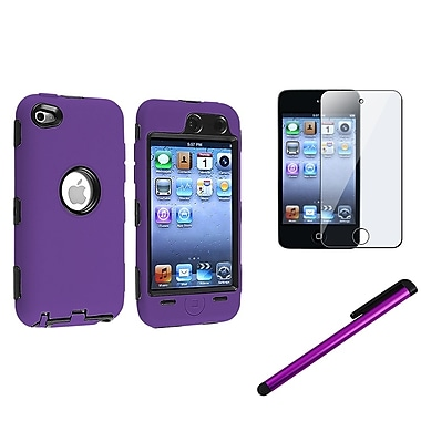 Insten® 796872 3 Piece Case Bundle For Apple iPod Touch 4th Gen