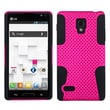 ASMYNA Hard Plastic Phone Protector Case For LG P769 Optimus L9, Hot Pink/Black Astronoot