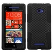 ASMYNA Rubber Protector Case For HTC 6990LVW/Windows 8X/Windows Phone 8X, Black Astronoot