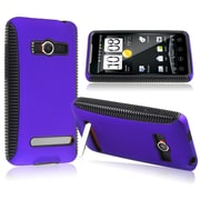 Insten® TPU Rubber Hybrid Case For HTC EVO 4G, Black/Blue