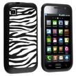 Insten® Silicone Skin Case For Samsung i9000 Galaxy S/T959 Vibrant, Black/White Zebra