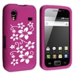 Insten® Silicone Skin Case For Samsung Galaxy Ace GT-S5830, Hot Pink Flower