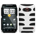 MYBAT™ Rubber Protector Case For HTC EVO 4G, Solid Ivory White/Black Fishbone