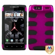 MYBAT™ Hard Plastic Phone Protector Case For Motorola XT912/Droid Verizon, Hot Pink/Black Fishbone