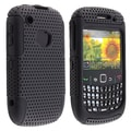 Insten® Silicone Hybrid Case For BlackBerry Curve 8520/9300, Black