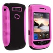 Insten® TPU Rubber Hybrid Case For BlackBerry Torch 9800/9810, Pink/Black