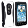 Insten® TPU Rubber Hybrid Case For HTC EVO 3D, Black/White