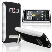 Insten® TPU Rubber Hybrid Case For HTC EVO 4G, White/Black