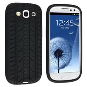 Insten® Silicone Case For Samsung Galaxy SIII/S3, Black Tire