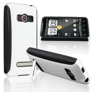 Insten® TPU Rubber Hybrid Case For HTC EVO 4G, Black/White