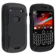 Insten® Silicone Hybrid Case For BlackBerry Bold 9900/ 9930, Black