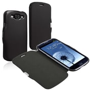 Insten® Leather Case With Magnetic Flap For Samsung Galaxy S III i9300, Black