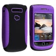 Insten® TPU Rubber Hybrid Case For BlackBerry Torch 9800/9810, Purple/Black