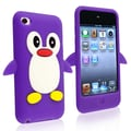 Insten® Silicone Penguin Skin Case For iPod Touch 4th Gen, Purple