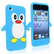 Insten® Silicone Penguin Skin Case For iPod Touch 4th Gen, Hot Blue