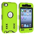 Insten® Silicone Hybrid Case For iPod Touch 4th Gen, Black/Green Arrow