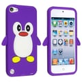 Insten® Silicone Penguin Skin Case For Apple iPod Touch 5th Gen, Purple