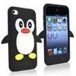 Insten® Silicone Penguin Skin Case For iPod Touch 4th Gen, Black