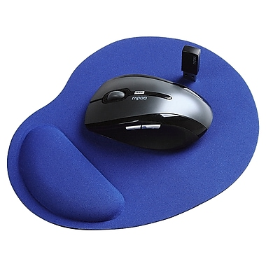 Insten® Wrist Comfort Mouse Pad For Optical/Trackball Mouse, Blue
