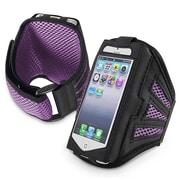Insten® Deluxe Neoprene Sportband For Apple iPhone 5/5C/5S/Touch 5th Gen, Black/Purple