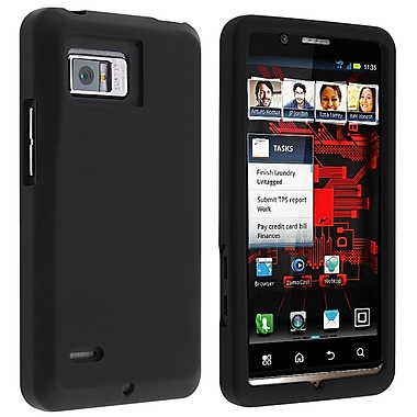 Insten® Silicone Skin Case For Motorola Droid Bionic XT875, Black
