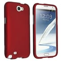 Insten® Rubber Coated Snap-in Case For Samsung Galaxy Note II N7100, Red
